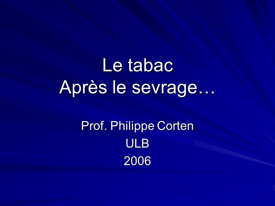 Le tabac Après le sevrage… Prof. Philippe Corten ULB2006