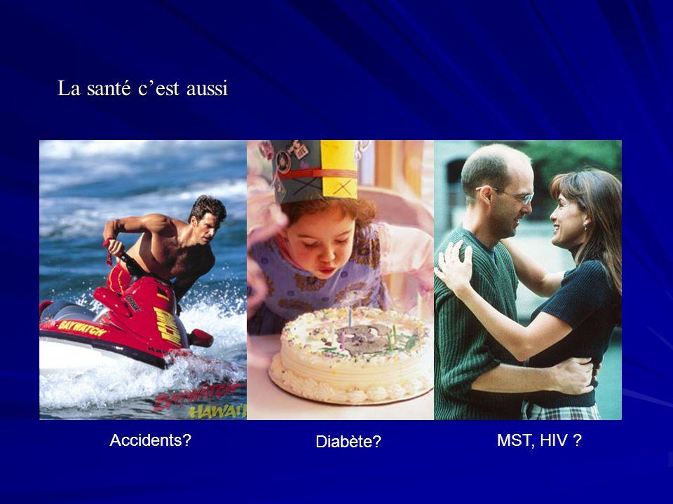 La santé cest aussi Diabète? MST, HIV ?Accidents?