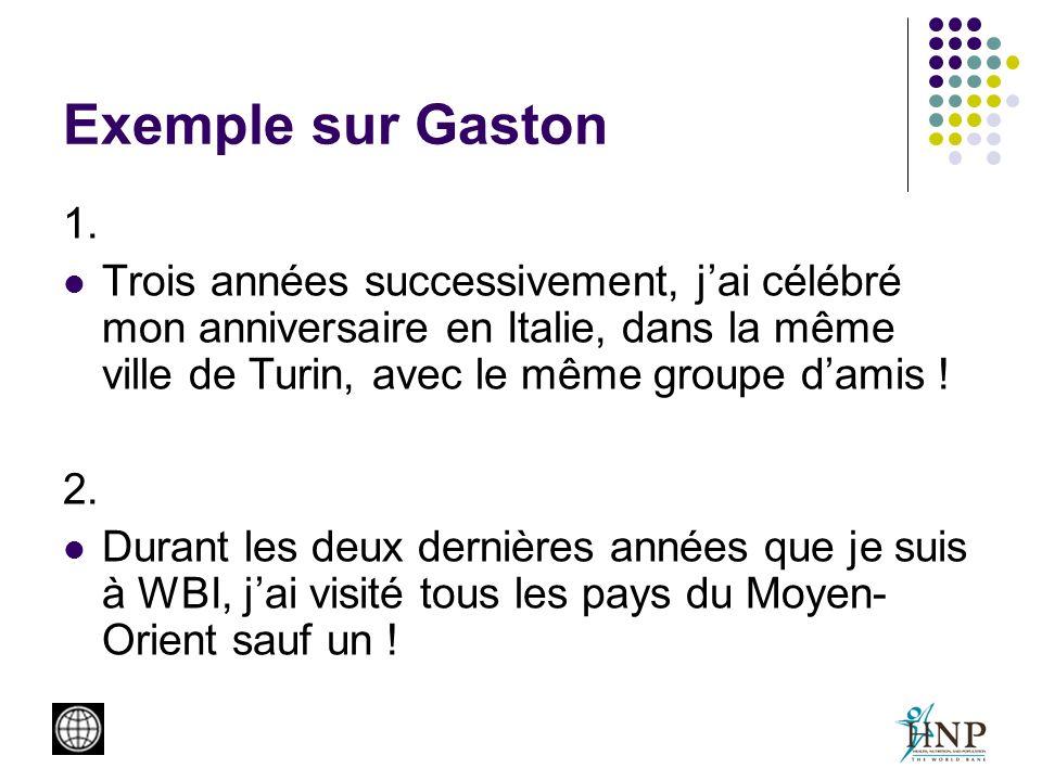 Exemple sur Gaston 1.