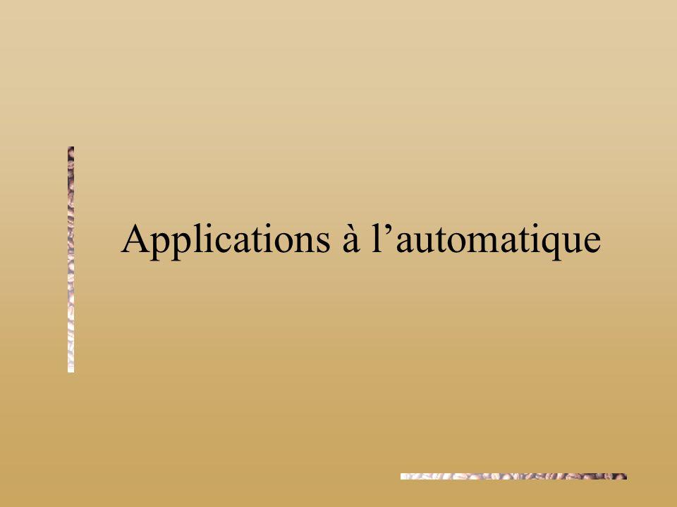 Applications à lautomatique