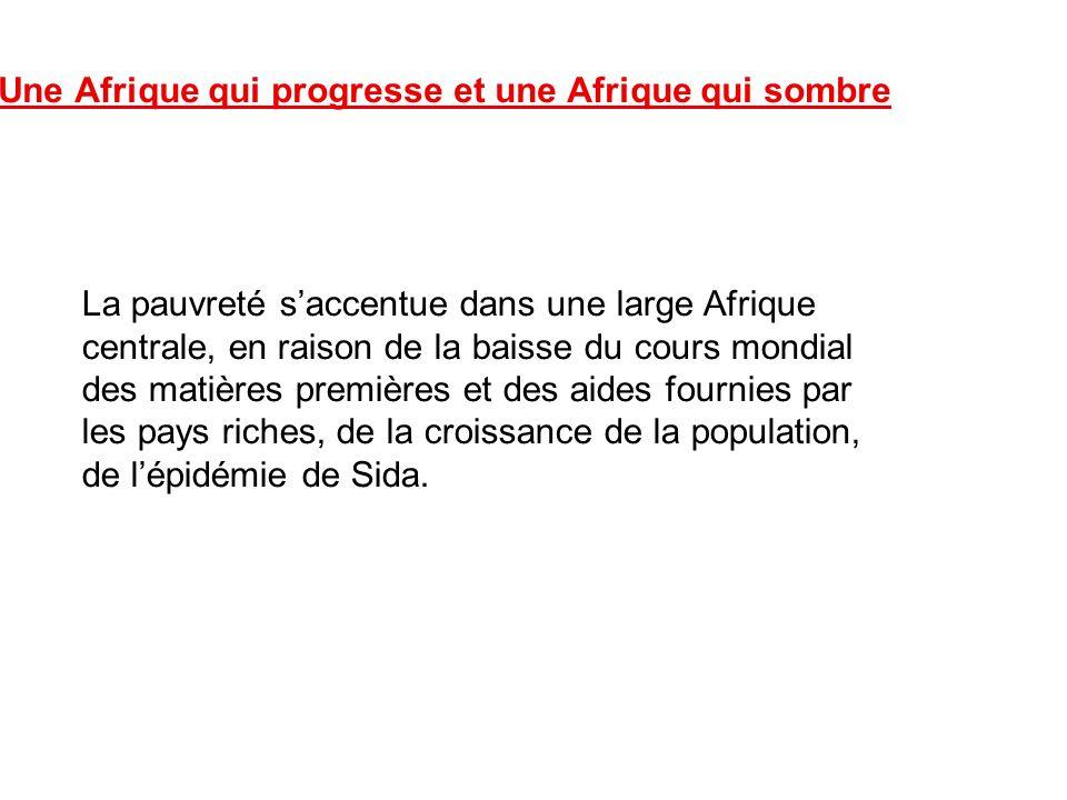 La pauvreté saccentue dans une large Afrique centrale, en raison de la baisse du cours mondial des matières premières et des aides fournies par les pa