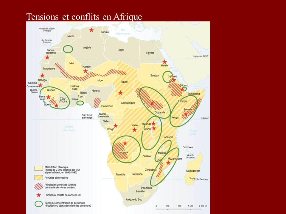 II) Diversité ethnique et culturelle Une mosaïque de peuples et dEtats La plupart des Etats africains sont issus de la décolonisation.