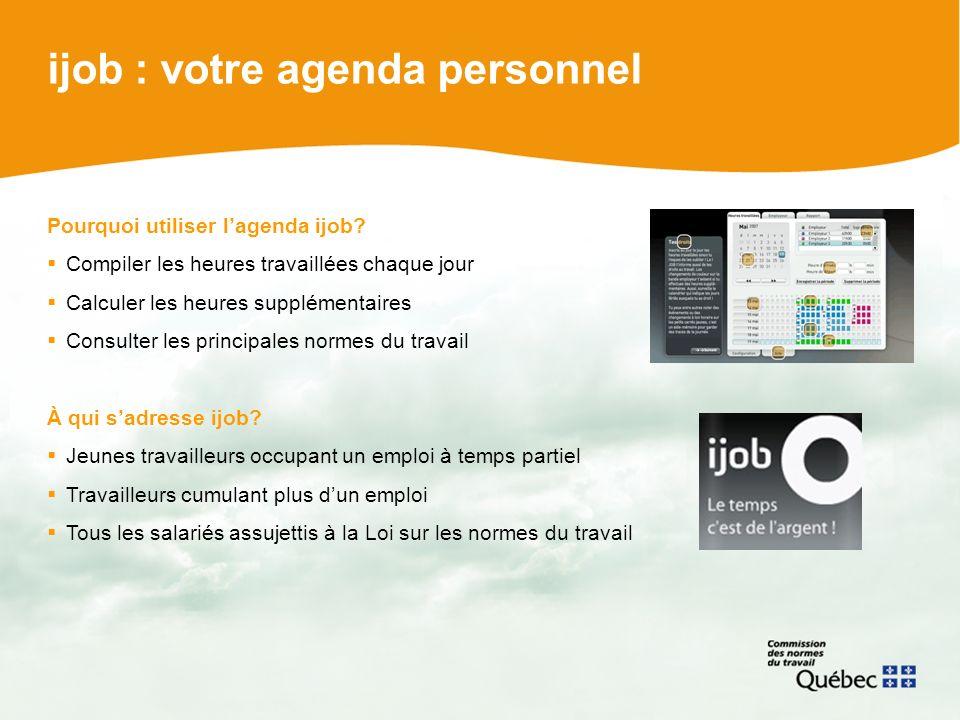 ijob : votre agenda personnel Pourquoi utiliser lagenda ijob.