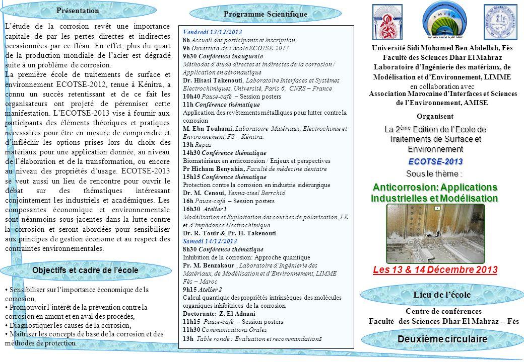 Pr.SFAIRA Mouhcine & Pr. Ebn Touhami Mohamed Adresses E-mail : msfaira@yahoo.com m.