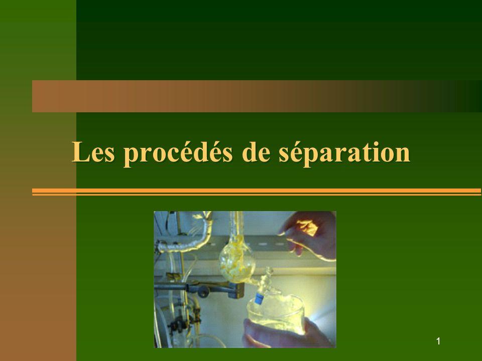 1 Les procédés de séparation