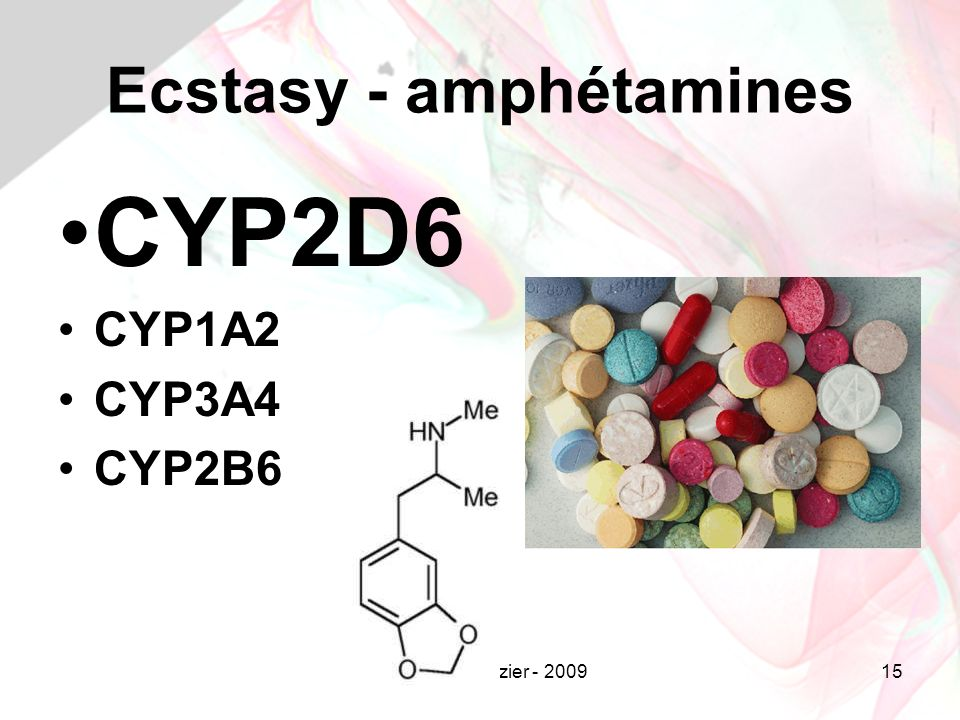 Jean-Louis Brazier - 200915 Ecstasy - amphétamines CYP2D6 CYP1A2 CYP3A4 CYP2B6