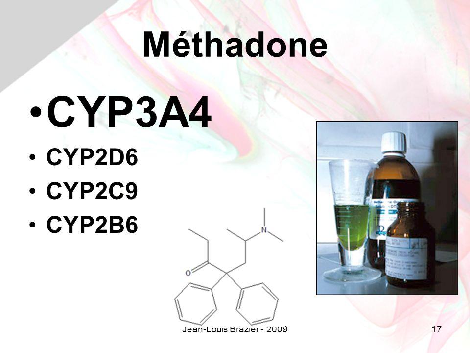 Jean-Louis Brazier - 200917 Méthadone CYP3A4 CYP2D6 CYP2C9 CYP2B6