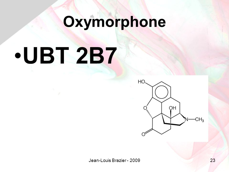 Jean-Louis Brazier - 200923 Oxymorphone UBT 2B7