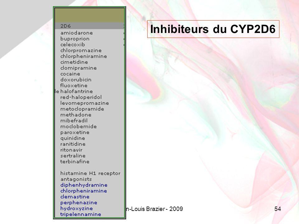 Jean-Louis Brazier - 200954 Inhibiteurs du CYP2D6