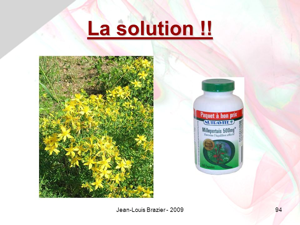 Jean-Louis Brazier - 200994 La solution !!