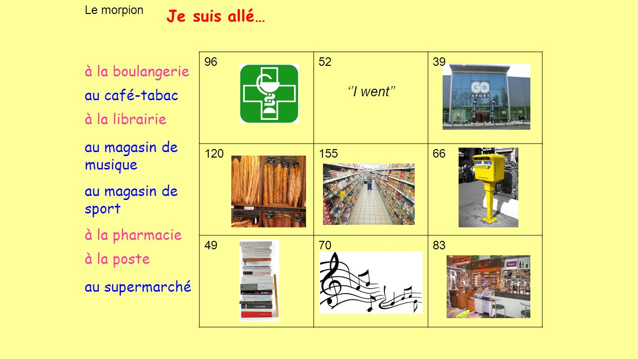 Où es-tu allé.Je suis allé… a b c d e f g h Lire page 50 AT3/4 f, d, a, c, h, e, b, g.