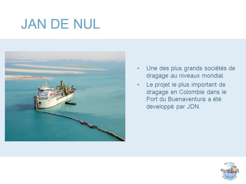 JAN DE NUL Une des plus grands sociétés de dragage au niveaux mondial. Le projet le plus important de dragage en Colombie dans le Port du Buenaventura