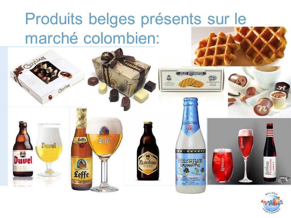 Produits belges présents sur le marché colombien: