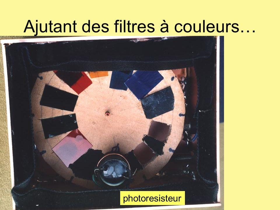 Ajutant des filtres à couleurs… photoresisteur