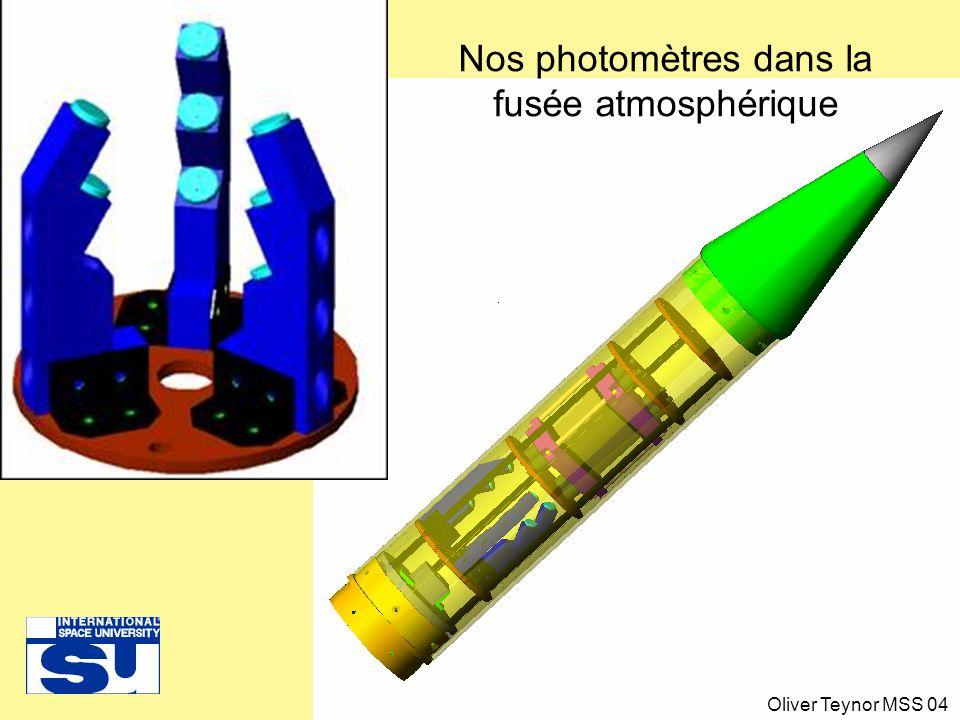 Nos photomètres dans la fusée atmosphérique Oliver Teynor MSS 04