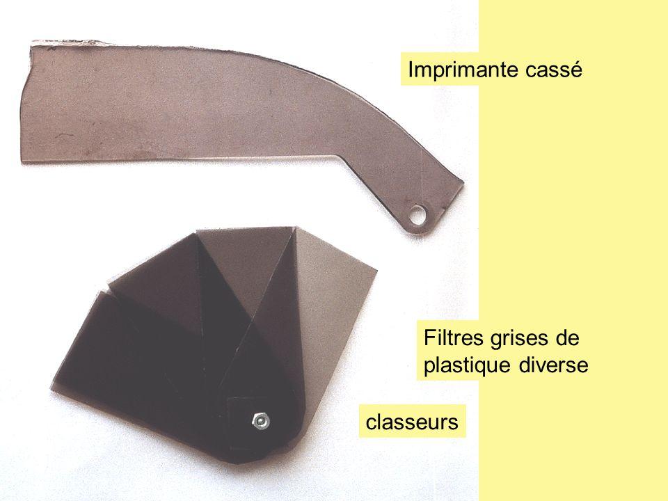 Filtres grises de plastique diverse classeurs Imprimante cassé