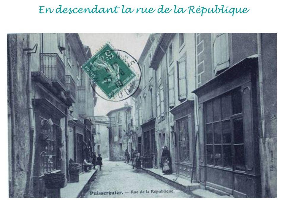 En descendant la rue de la République