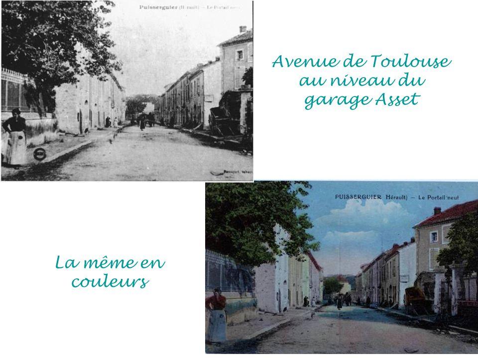 Avenue de Toulouse au niveau du garage Asset La même en couleurs