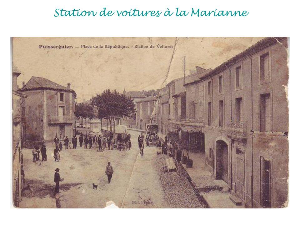 Station de voitures à la Marianne