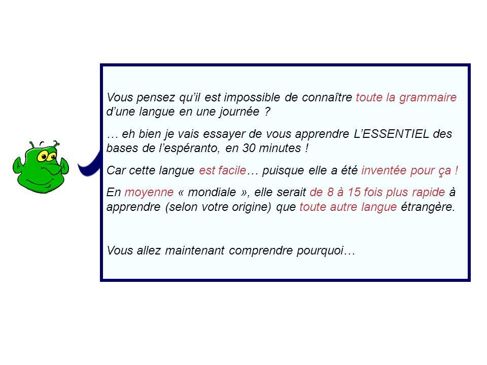 La prononciation Lécriture et la prononciation de lespéranto sont 100 % régulières / phonétiques .
