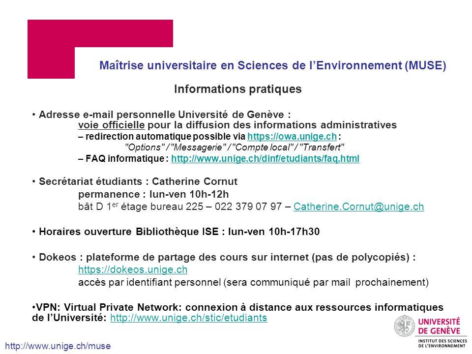 Informations pratiques Adresse e-mail personnelle Université de Genève : voie officielle pour la diffusion des informations administratives – redirect