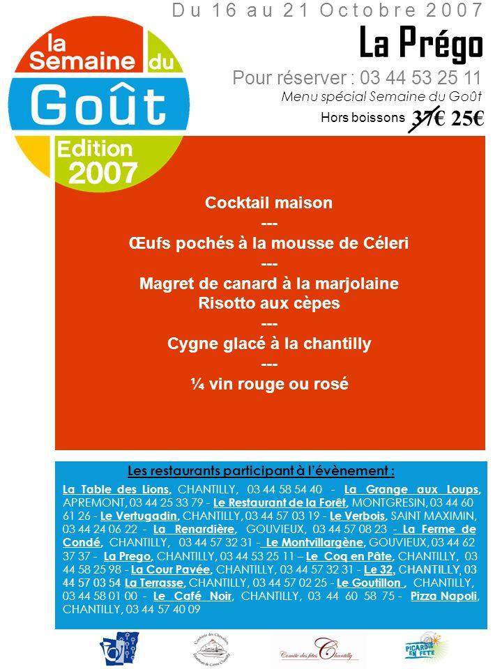 Cocktail maison --- Œufs pochés à la mousse de Céleri --- Magret de canard à la marjolaine Risotto aux cèpes --- Cygne glacé à la chantilly --- ¼ vin