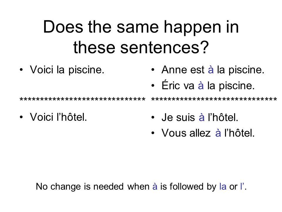 What would you use in the following sentences.Je vais au café.