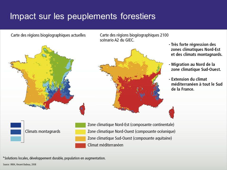 Impact sur les peuplements forestiers