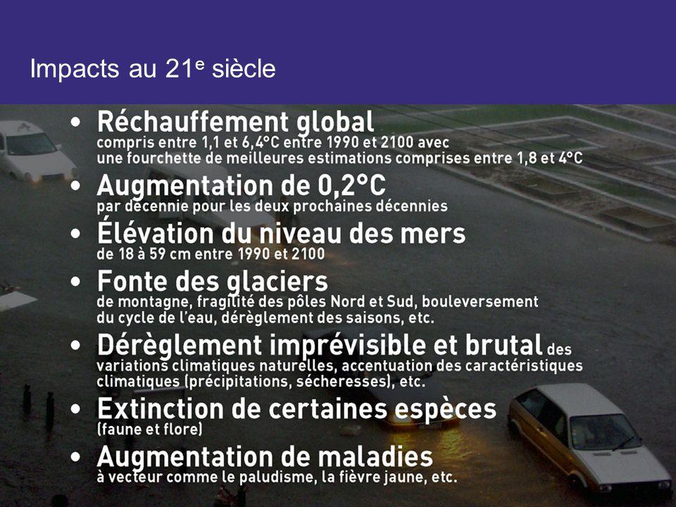 Impacts au 21 e siècle