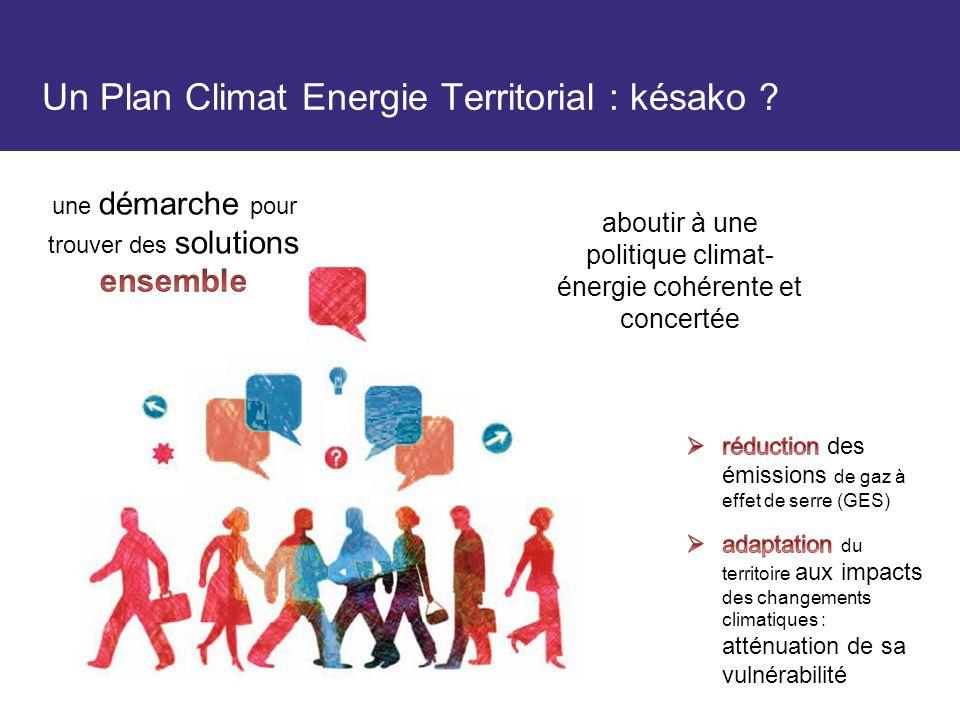 Un Plan Climat Energie Territorial : késako .