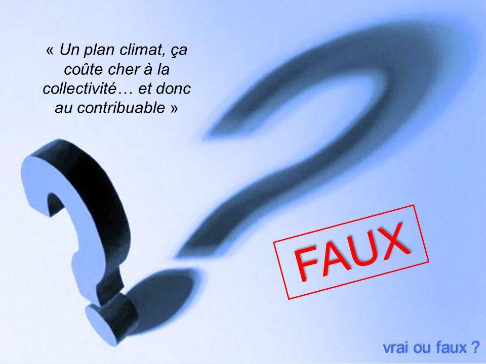 « Un plan climat, ça coûte cher à la collectivité… et donc au contribuable » vrai ou faux ? FAUX