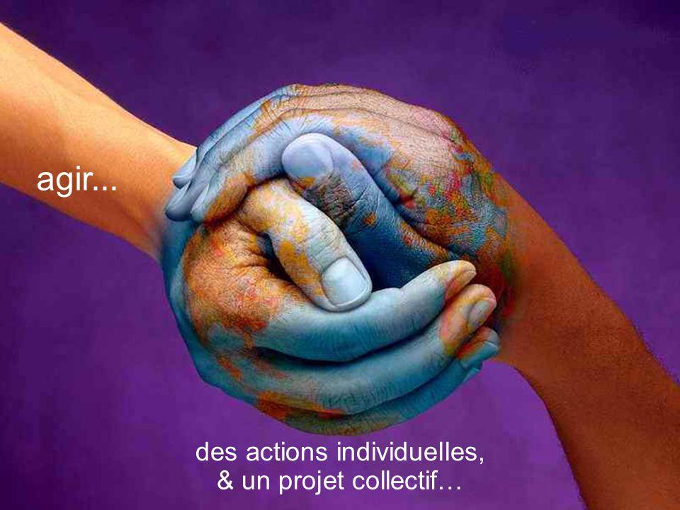 & un projet collectif… agir... des actions individuelles,