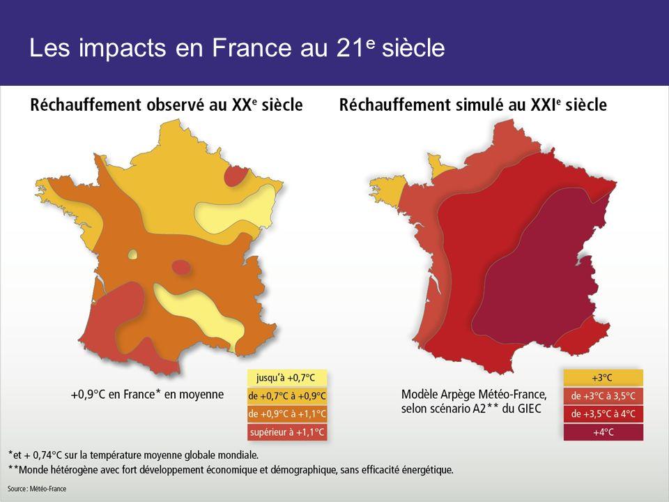 Les impacts en France au 21 e siècle