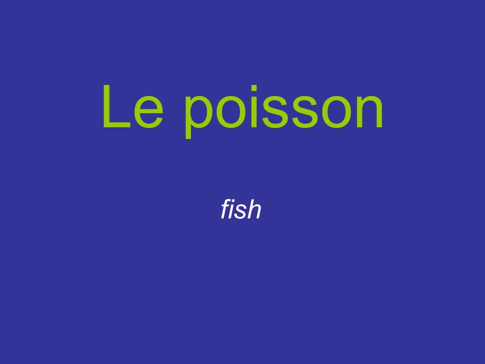 Le poisson fish