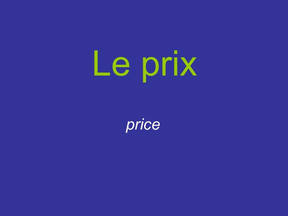 Le prix price