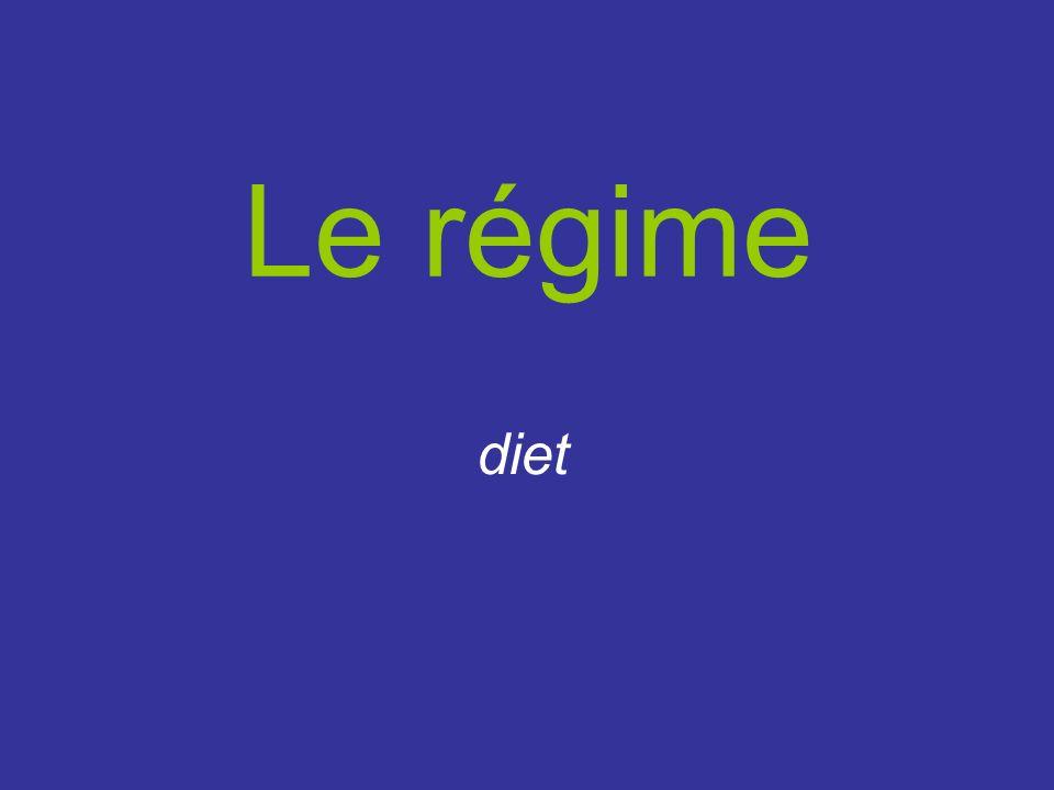 Le régime diet