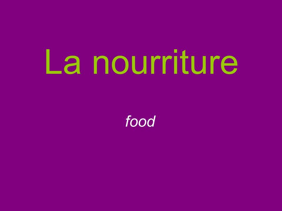 Les crudités (f) Raw vegetable hors- doeuvres