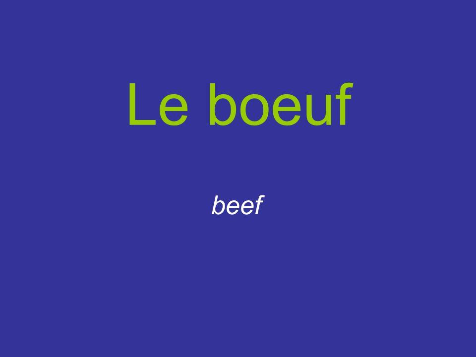 Le boeuf beef