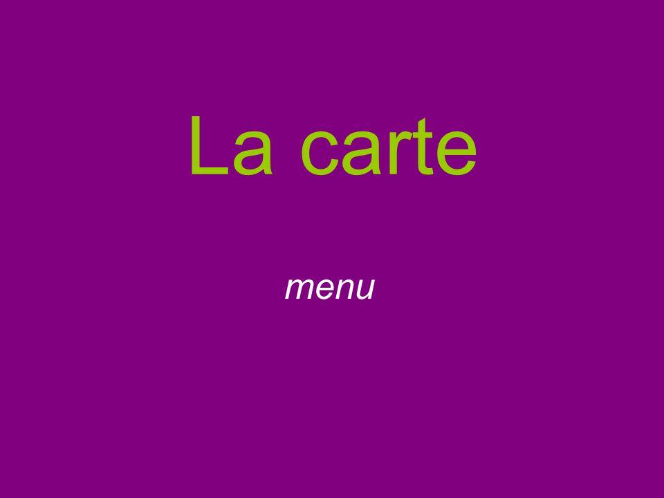 La carte menu