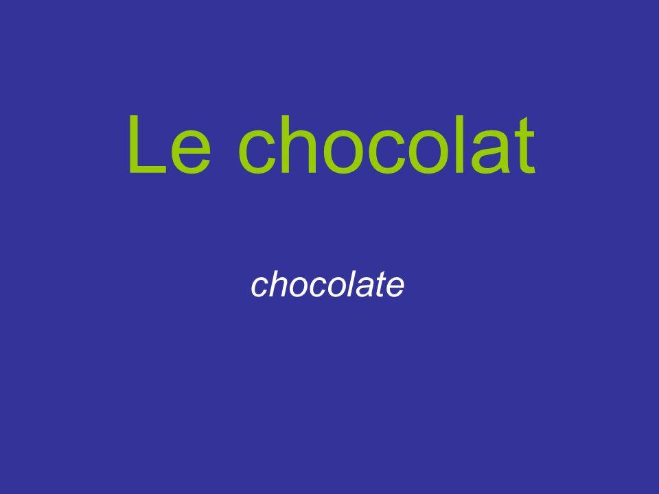 Le chocolat chocolate