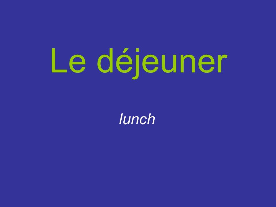 Le déjeuner lunch