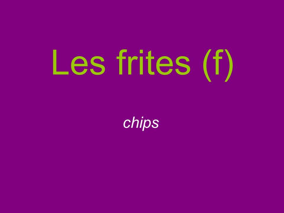 Les frites (f) chips