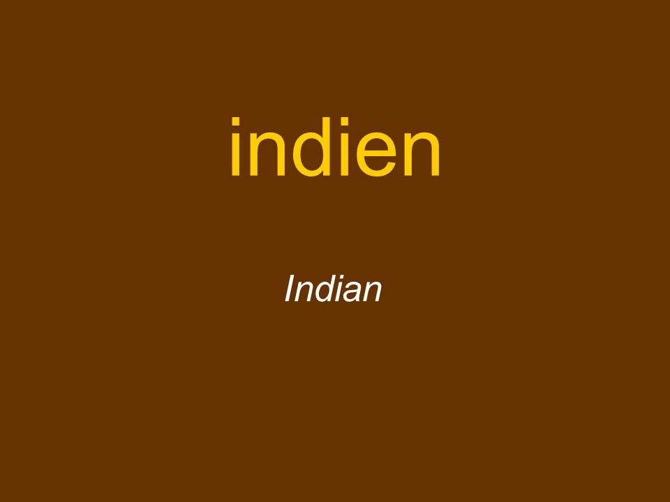 indien Indian