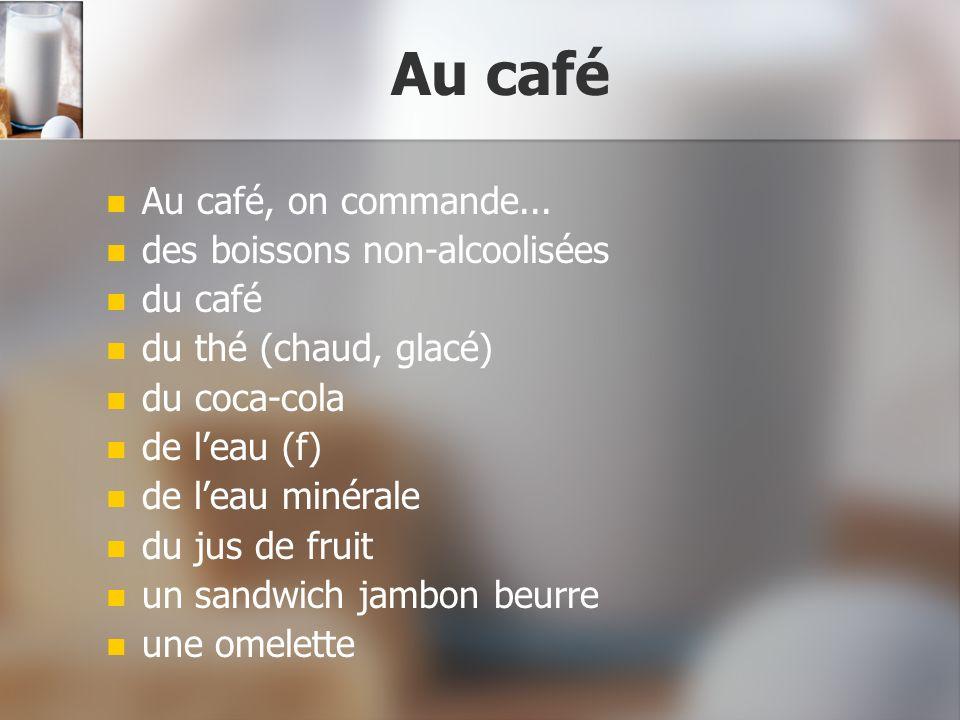 Au restaurant Au restaurant, on commande...