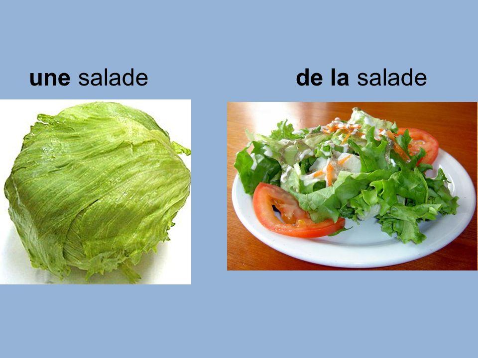 une saladede la salade