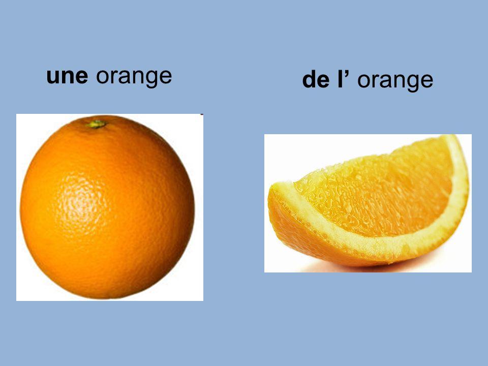 une orange de l orange