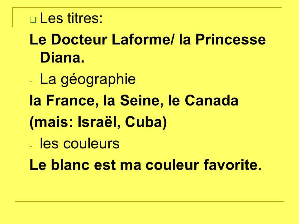 Les sujets scolaires La physique est intéressante. Les langues: Jétudie le français.