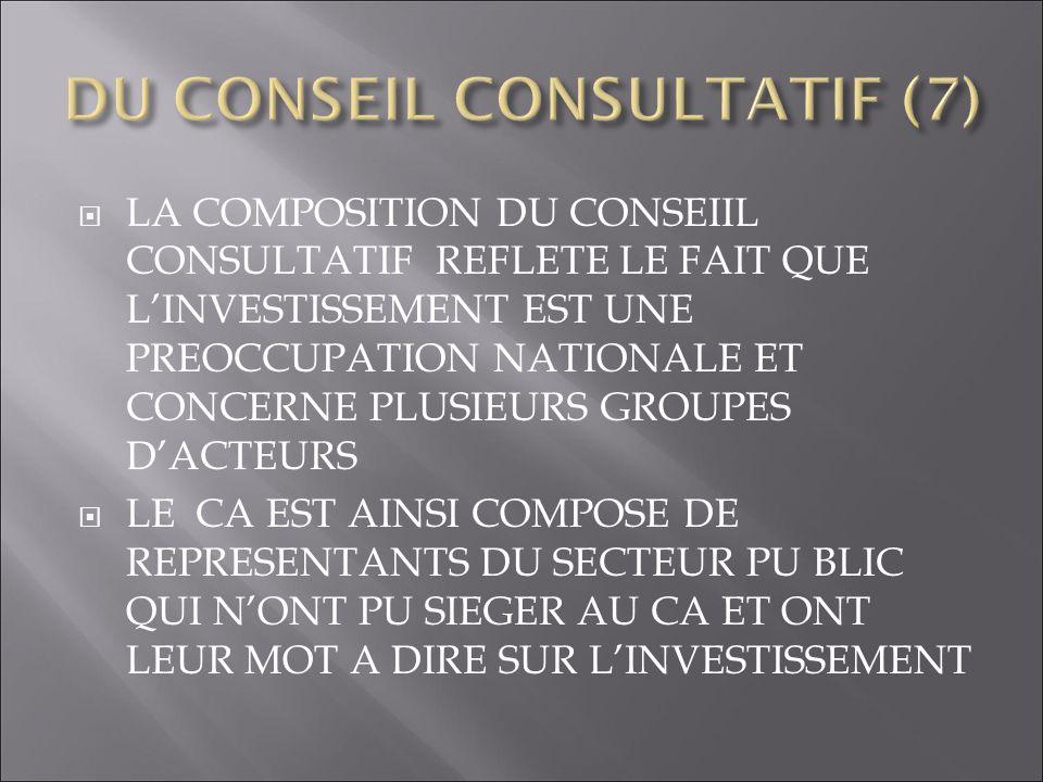 COMPOSITION : RECTEUR DU CABINET DU PREMIER MINISTRE, DIRECTEURS GENERAUX MCI MEF DGI APN TELECO CONATEL AGD CAMEP EDH IHSI MANDAT ANALYSER PB INVESTISSEURS.