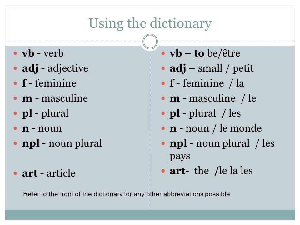 Adjective pronoun Comment dit-on my, your, his /her? Pronoun LeLales je tu Il, elle, onson