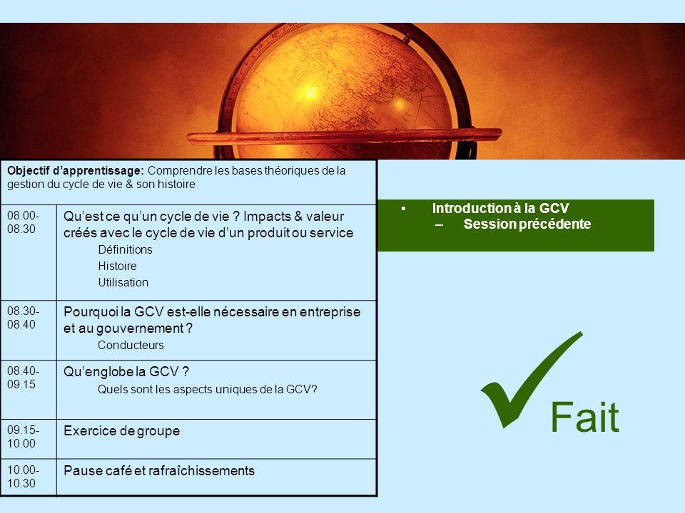 34 Etude de cas – BASF BASF a un outil d Analyse socio éco efficacité (SEEbalance®) Ils utilisent leur analyse de leco-efficacité ou SEEbalance® pour: –Les décisions stratégiques sur les investissements, produits et marchés.